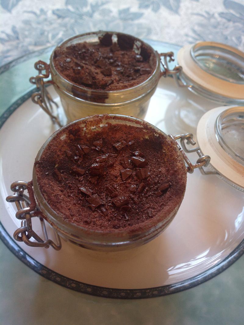 Tortine in barattolo ricotta e cioccolato - al microonde