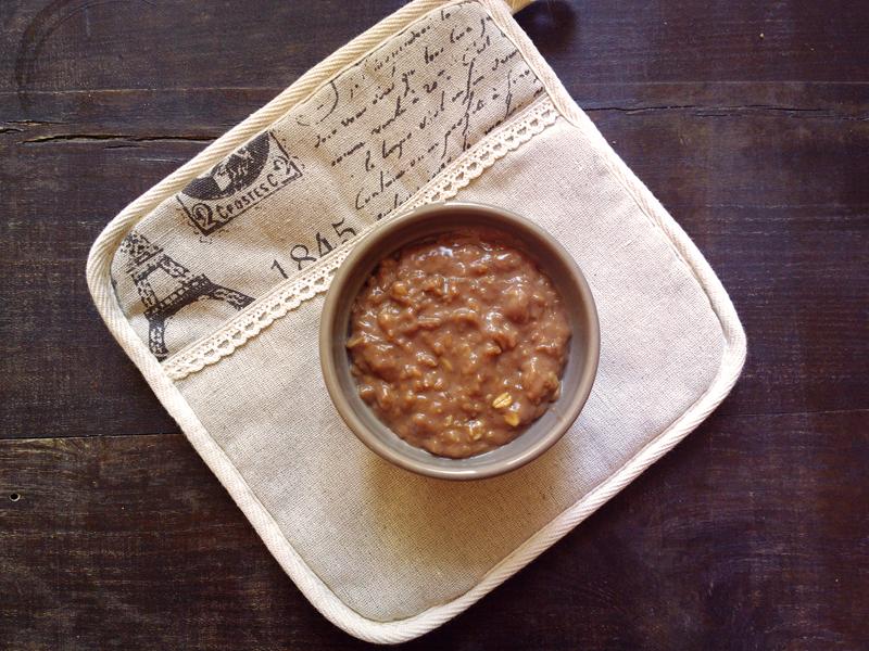 Porridge al cioccolato, zenzero e cannella