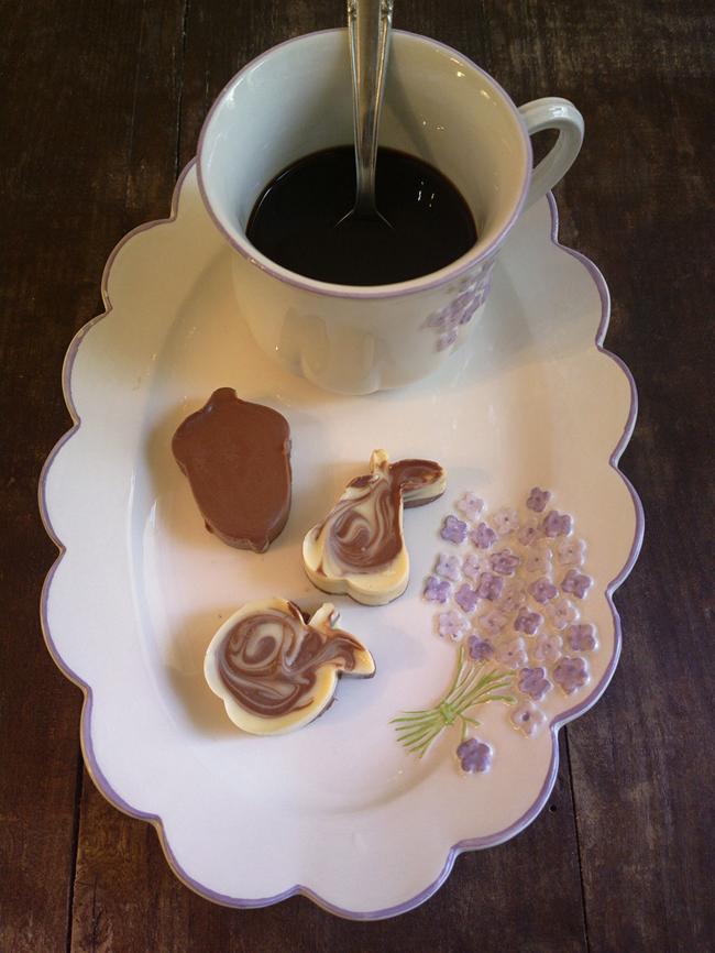 Cioccolatini nelle formine per biscotti - idea veloce