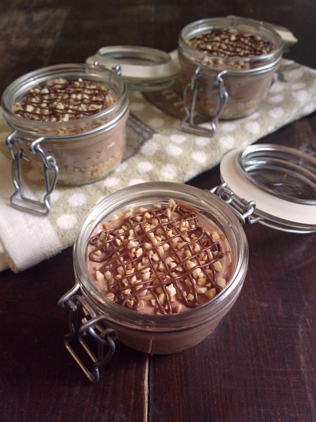 Cheesecake in a jar - nutella, ricotta e philadelphia