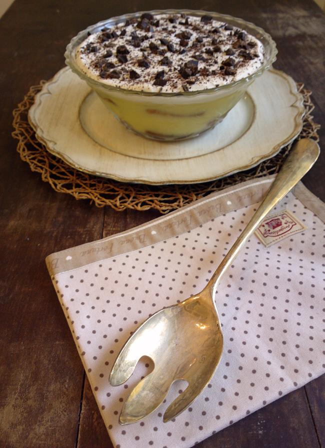 Trifle inglese crema, cioccolato e panna