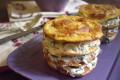 Lasagnetta di frittatine con farcia di philadelphia e rucola