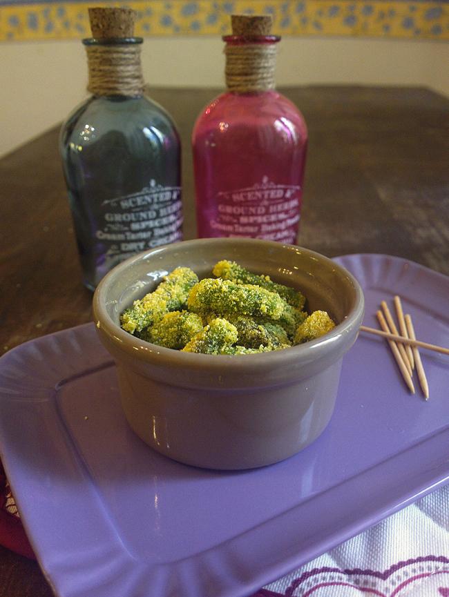 Bocconcini di asparagi croccanti in farina di mais