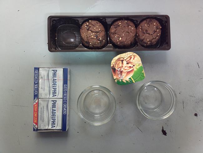 Crunchy cheesecake in a jar - frutta secca e avena