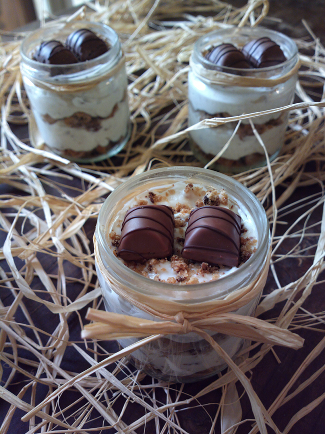 Mini Cheesecake kinder bueno in barattolo