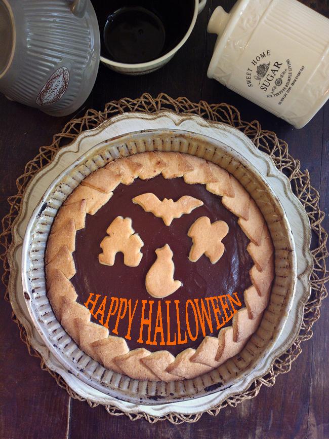 Crostata di halloween al cioccolato