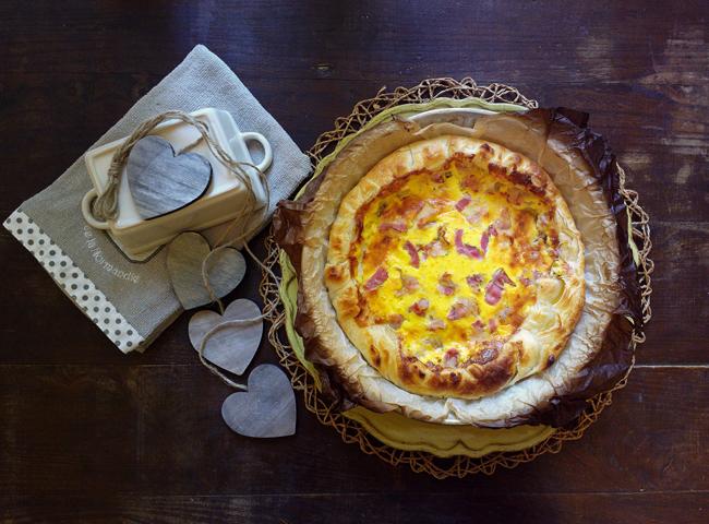 Quiche formaggetta - Torta salata formaggio e pancetta