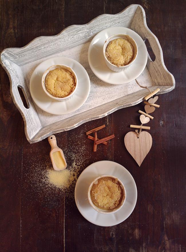 Cocottine dolci di semolino al forno