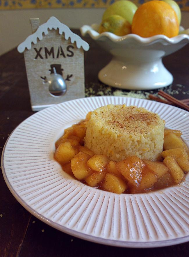 Tortino di cous cous dolce al profumo di Natale