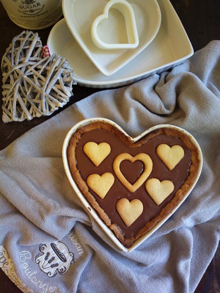 Crostata a forma di cuore per San Valentino