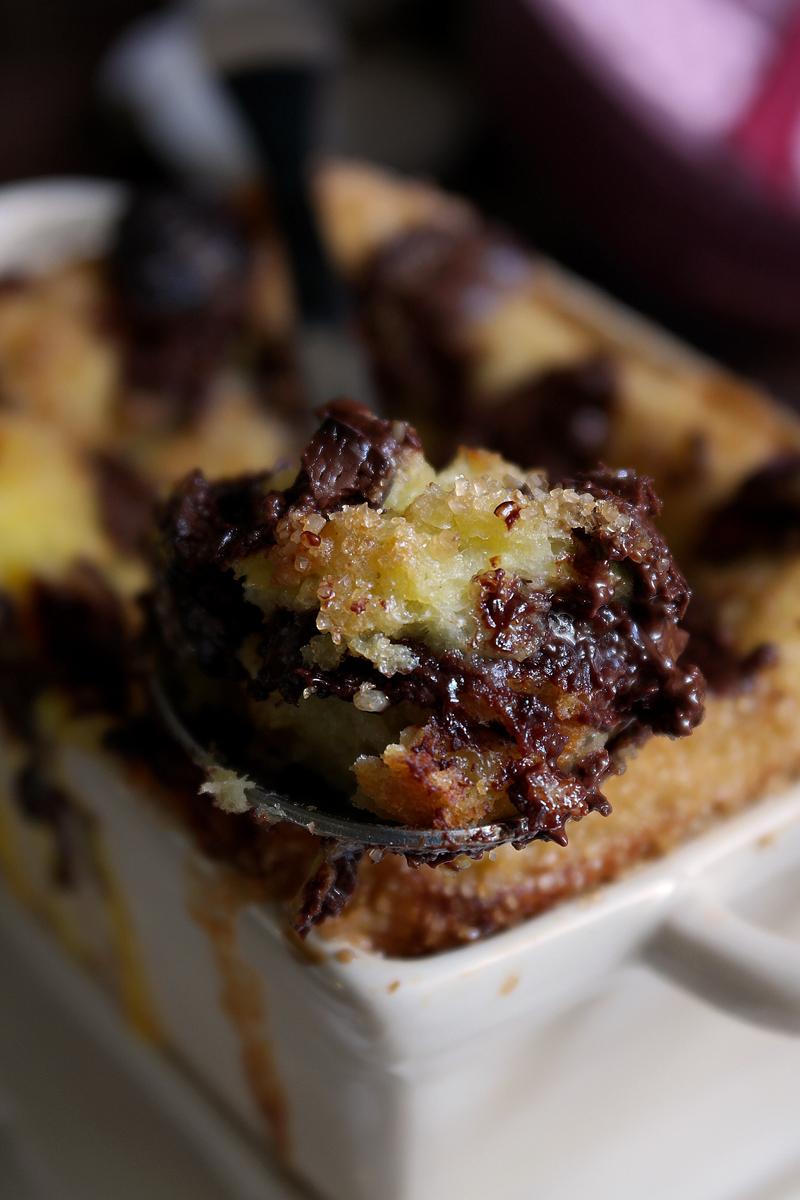 Bread pudding - Pudding di pane e cioccolato