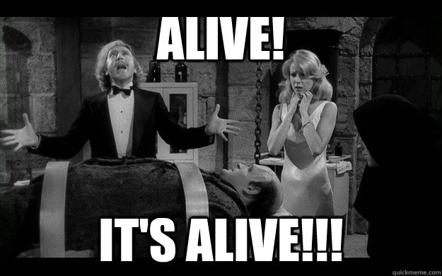 It's alive!!!! Un dolce al giorno it's aliiiiiiive!