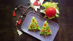 Alberi di Natale di pancarrè – ricetta light
