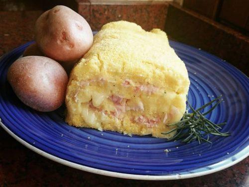 Rotolo di patate e prosciutto
