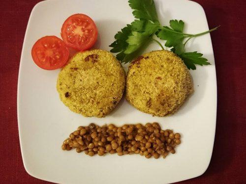 Burger di quinoa e lenticchie vegan