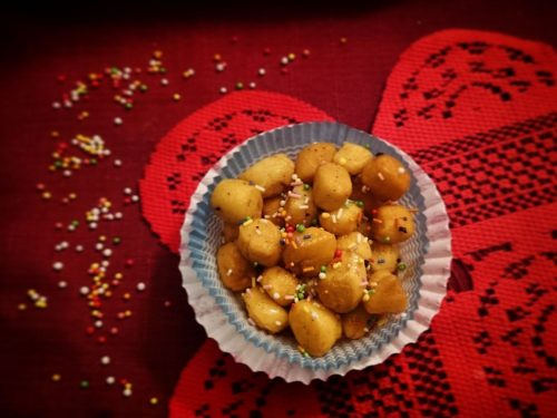 Struffoli o Pignolata (senza glutine e senza lattosio)