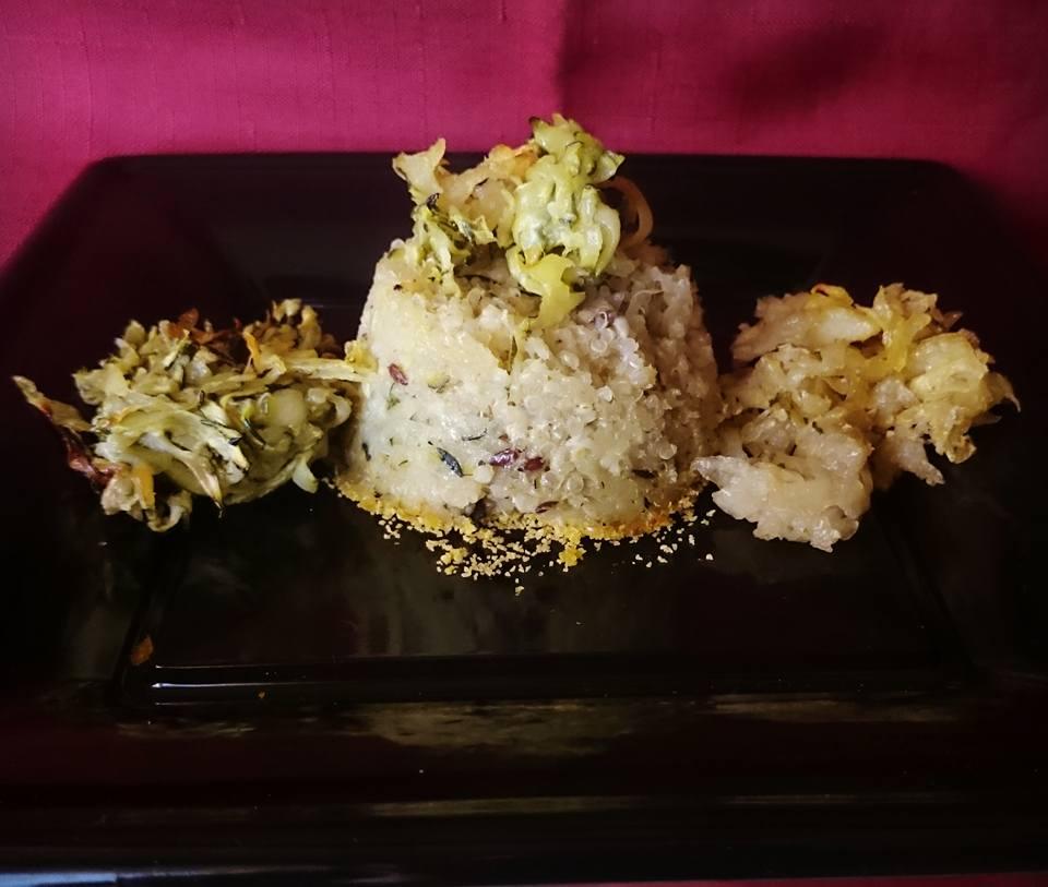 Tortino di quinoa e zucchine vegan