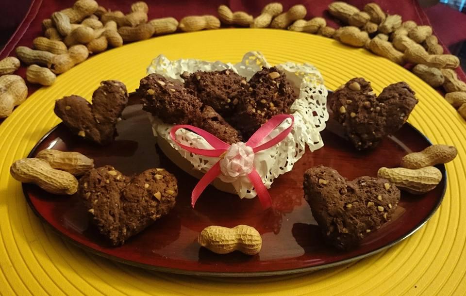 Biscotti cacao rum e arachidi