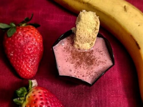 Mousse light fragole e banana vegan