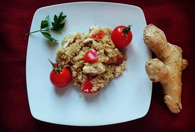insalata di pollo e quinoa