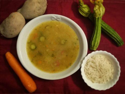 Crema di patate zucchine e carote