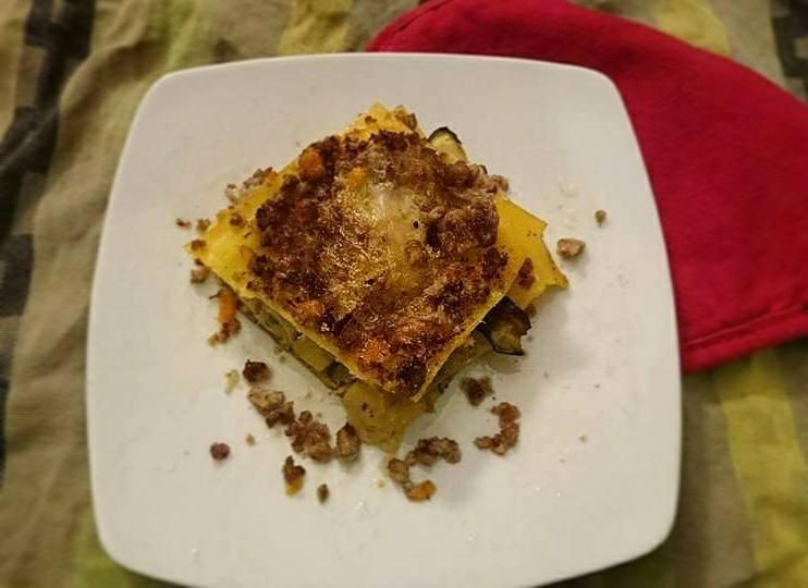 Lasagne bianche salsiccia e zucchine