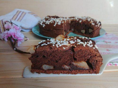 Torta pere e cioccolato senza glutine e senza lattosio