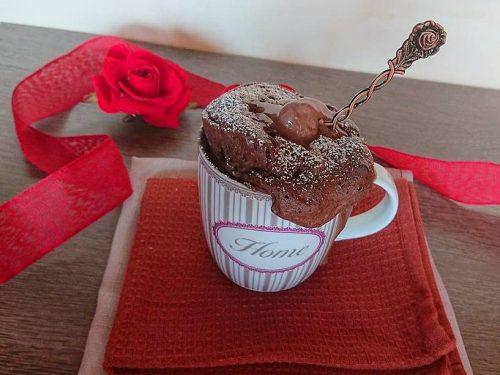 Mugcake al gelato gianduia senza glutine