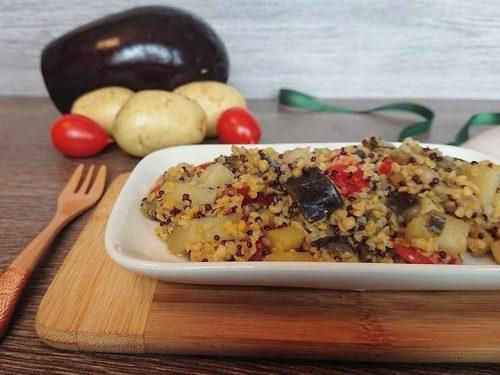 Quinoa e mais con verdure vegan