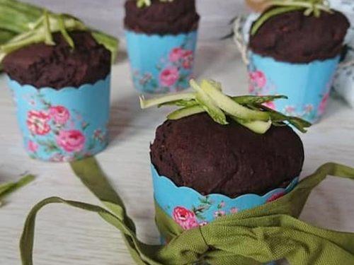 Muffin zucchine e cioccolato senza glutine vegani