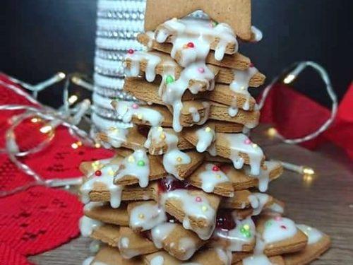 Albero di biscotti senza glutine senza lattosio