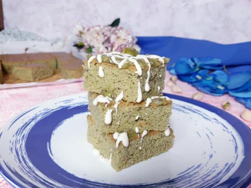 Brownies al pistacchio senza glutine senza  lattosio