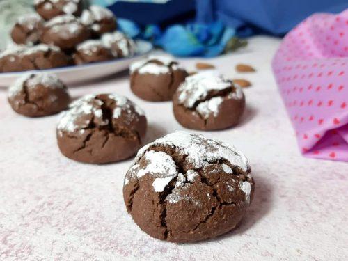 Biscotti noci mandorle e cioccolato senza glutine senza lattosio