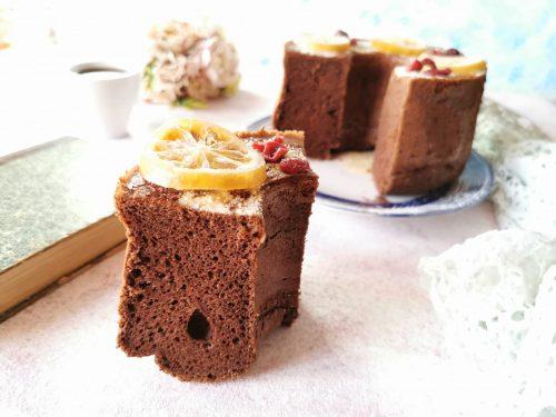 Chiffon cake caffè e cioccolato senza glutine senza lattosio