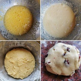 Biscotti con mirtilli secchi senza glutine senza lattosio