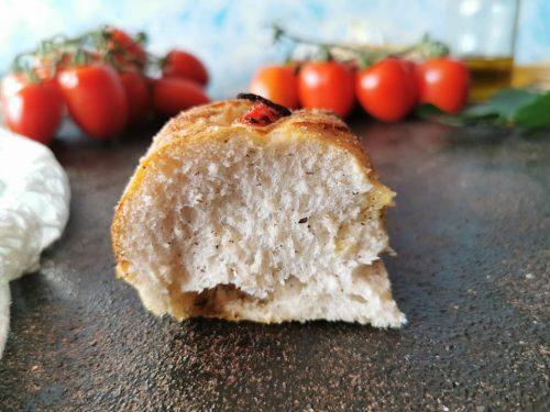 Focaccia ai pomodorini senza glutine senza lattosio