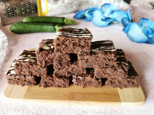 Brownies alle zucchine senza glutine vegan