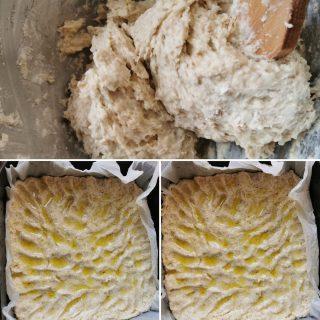 Focaccia con fiocchi di grano saraceno senza glutine