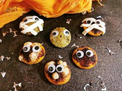 Pizzette sfogliate di Halloween