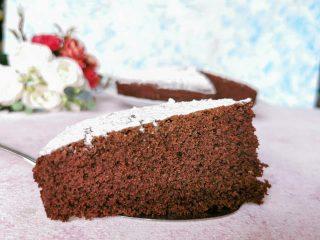Torta cacao e panna senza glutine