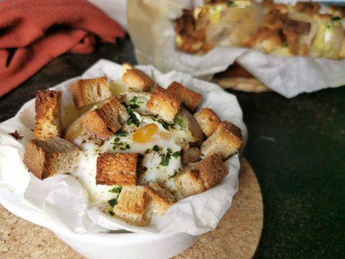 Patate ripiene con uova