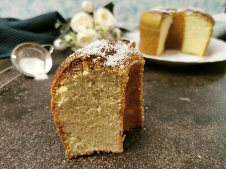 Chiffon cake al cocco senza glutine senza lattosio
