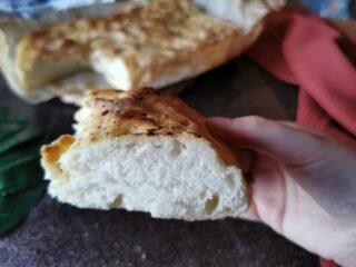 Focaccia con Farina Piaceri Mediterranei senza glutine
