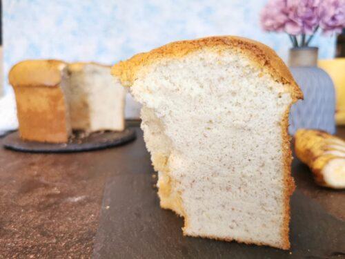 Chiffon cake alla banana senza glutine senza lattosio