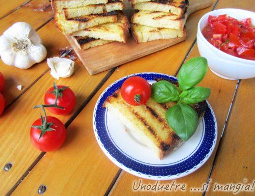 Bruschetta al pomodoro e basilico