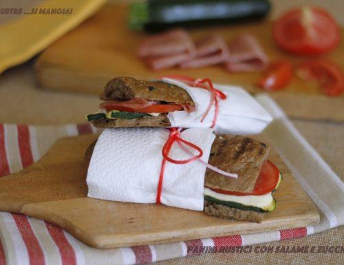 Panini farciti al salame e verdure