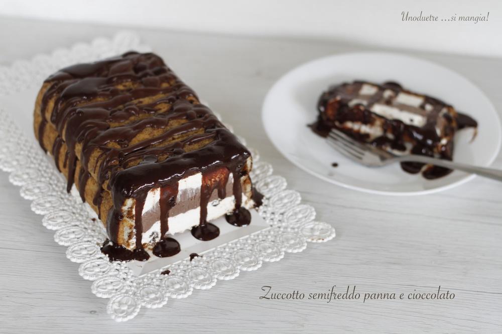Zuccotto semifreddo panna e cioccolato