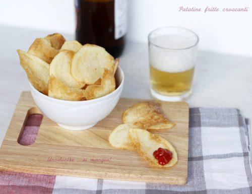 Patatine fritte croccanti, fatte in casa