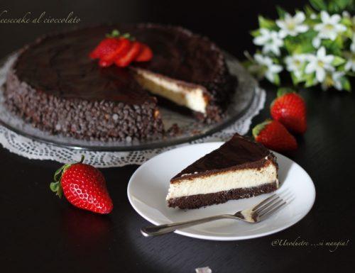 Cheesecake al cioccolato fondente e mascarpone