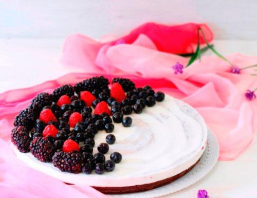 Cheesecake ai frutti di bosco ricotta e mascarpone